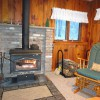 Wood stove with glass doors