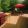 East side of deck with 5-burner gas grill