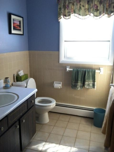 Bathroom on main level with tub & shower