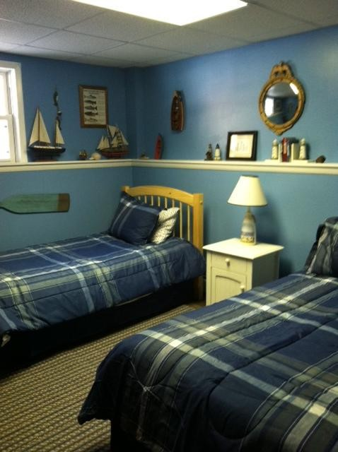 Lower level; Full & twin bed nautical theme