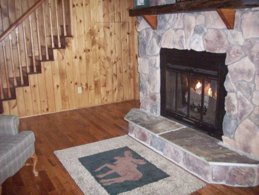Fireplace in small living room