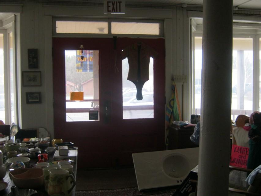 Downstairs, looking toward front doors