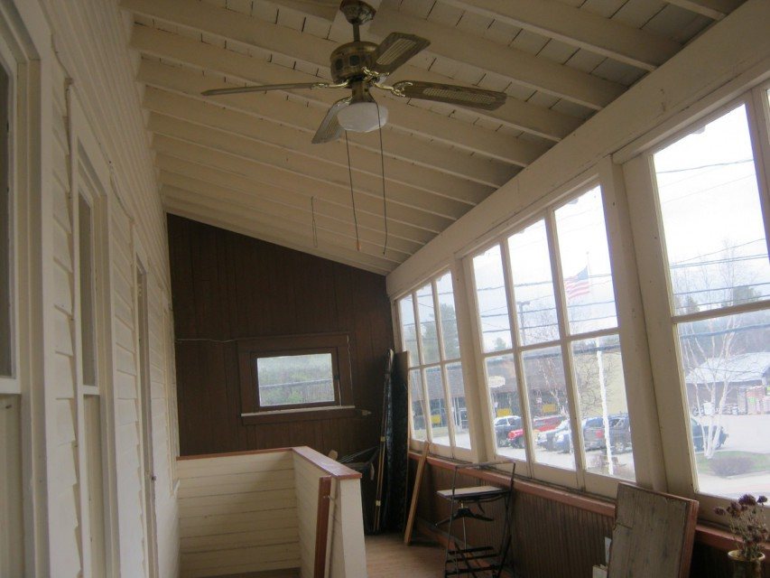Upstairs Enclosed Porch, Route 30 Side
