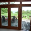 View over front deck to Lake Champlain