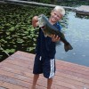 Huge largemouth bass caught from the private dock.