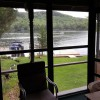 View of lake from attached, screened porch