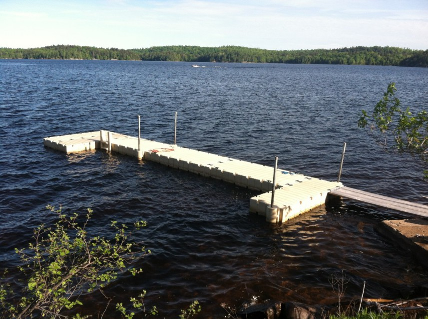 Brand new dock!  Bring or rent a boat, canoe or kayak!