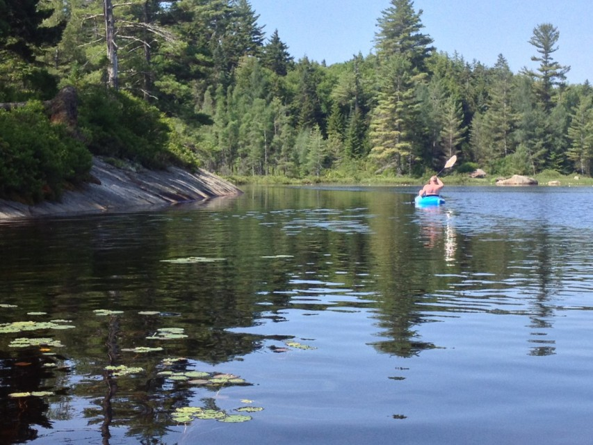 Lake view from a Kayak trip