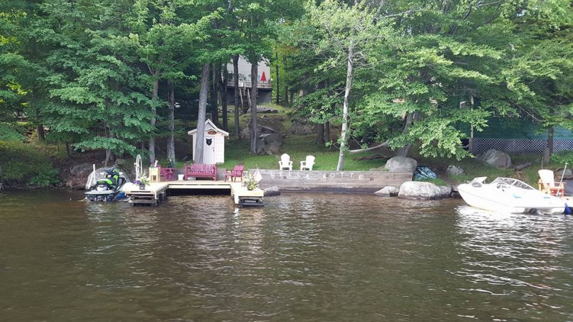 on the Channel. Between the Old forge Pond and 1st lake