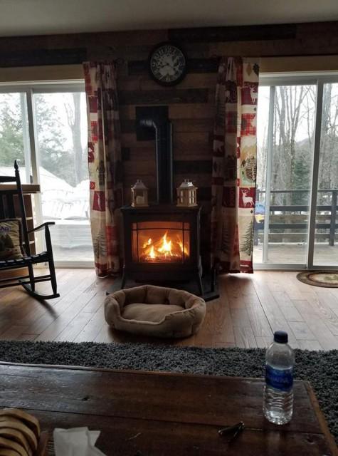 cozy propane heat.