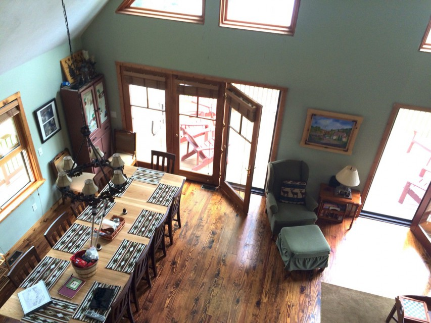 View from upstairs loft area.