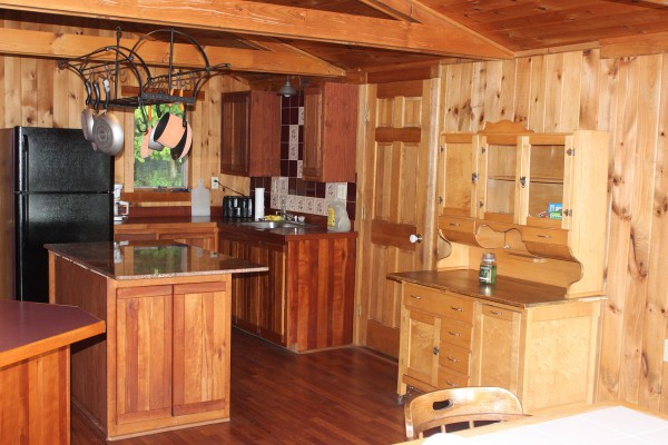 Open kitchen and dining room.