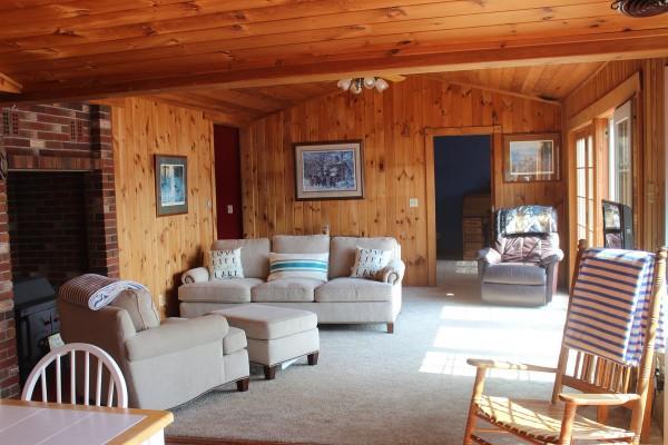 Livingroom off dining room. Complete open floor plan.