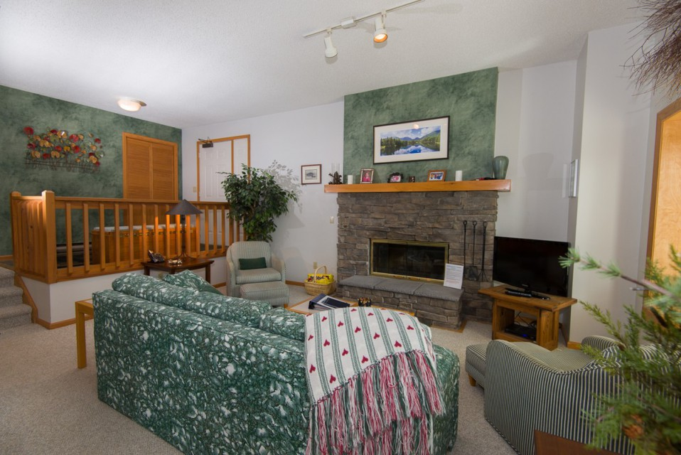 Our very cozy living room, perfect for family fun!