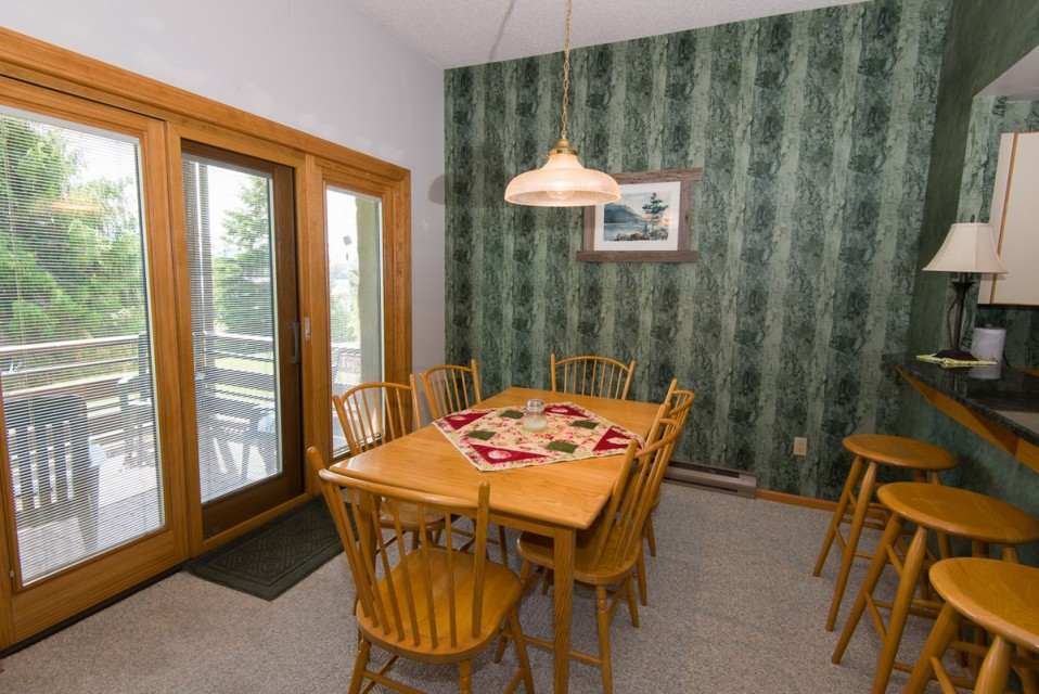 Our dining room area for six, right off the patio...