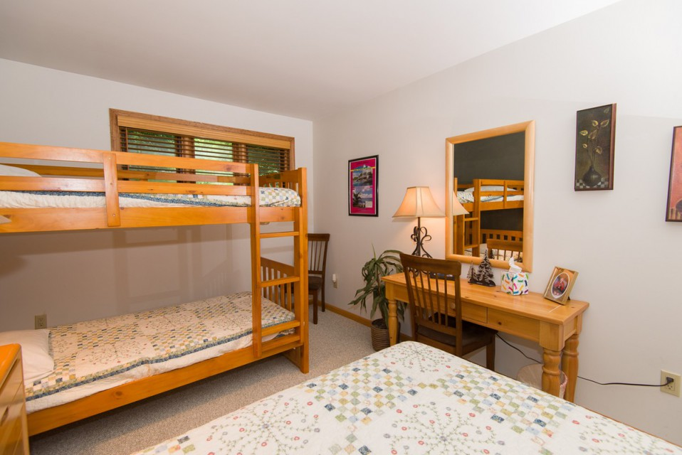 The bunk beds, in our second bedroom...