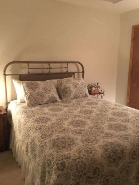 Bedroom #2 (queen) with front deck access.