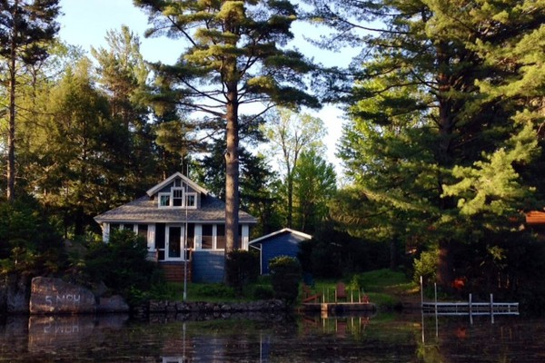 Guest cottage from the water
