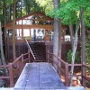 Redwood Log Cabin Chalet 40' from top of boathouse