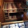 Queen bunkbeds in guest room of house