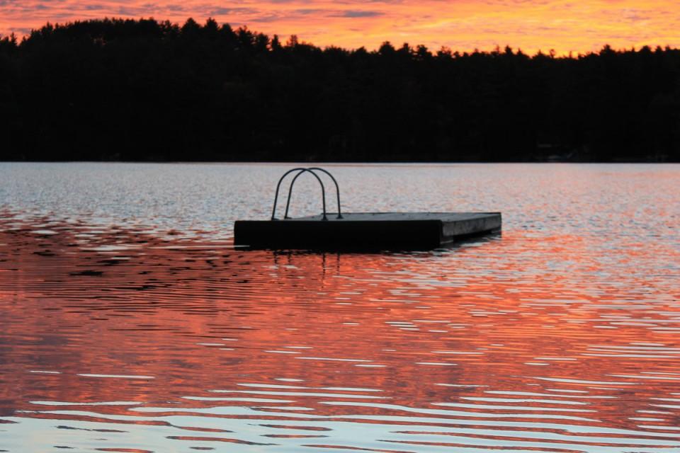Beautiful sunset at Birchwood