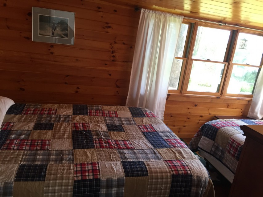 Bedroom with view of the lake sleeps 4