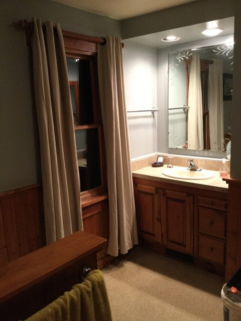 Full Master bathroom within bedroom