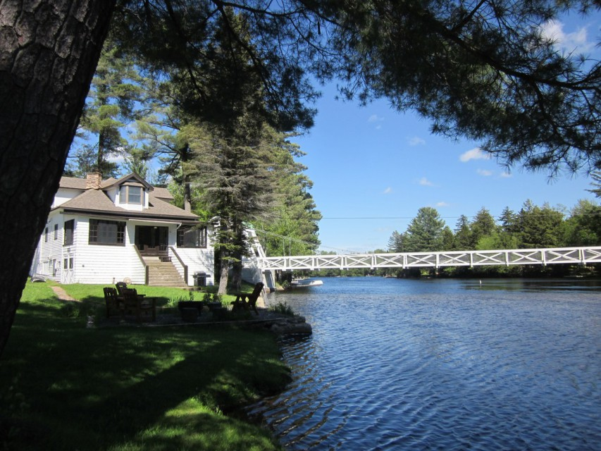 Camp Alongside The Footbridge