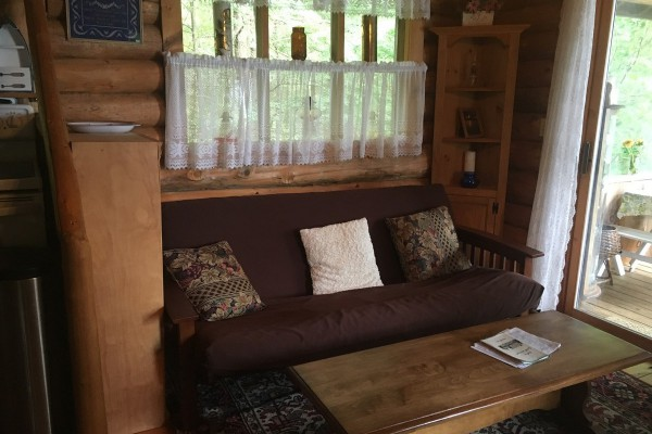 Restful living/family area with sleeping futon
