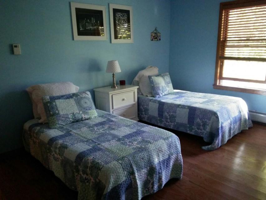 Blue room upstairs bedroom