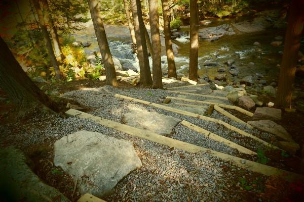 Earth/Stone/Timber walkway to shore