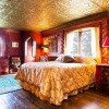 The Royal Bedroom in Highlands Castle with queen bed.