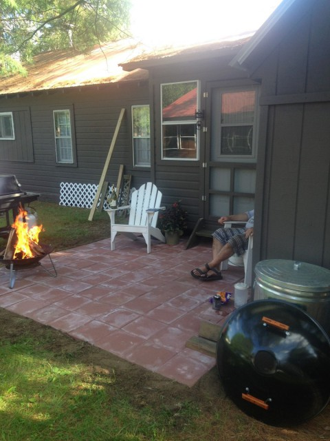 Patio and firepit.  Quiet enjoyment permitted.