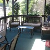 screened in porch with great lake view