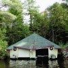 Unique two slip Boathouse with see thru eyes