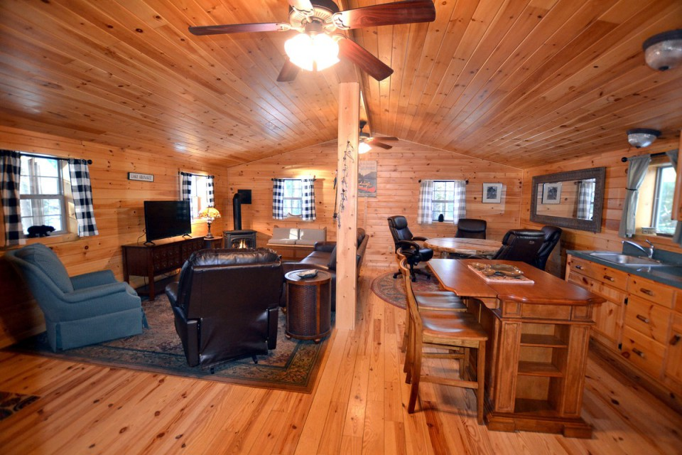 KNOTTY PINE INTERIOR THROUGHOUT