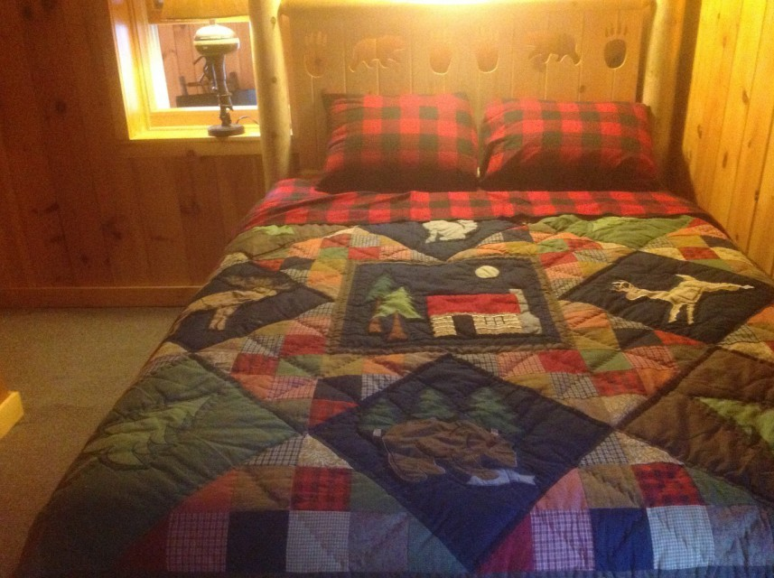 ADK bed frame and quilt