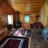 Living room has gas stove