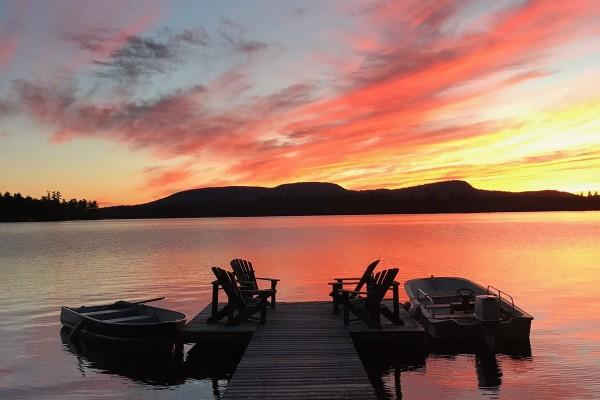 Sunset from Lake House shoreline