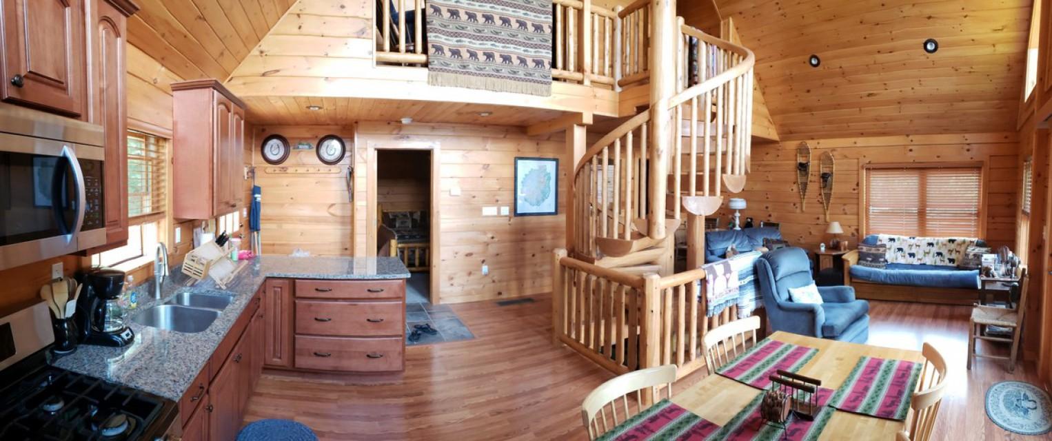 Kitchen, living room, loft