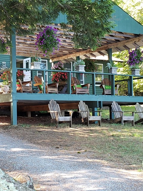 Main Lodge with Covered Deck