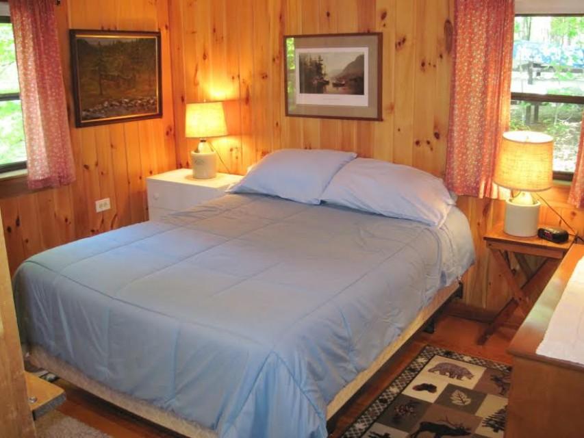 1 of 2 bedrooms with queen beds