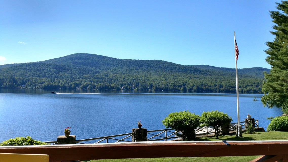 Long Lake & Mt. Sabattis from Greatstone Porch