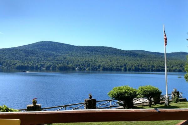 Long Lake & Mt. Sabattis from Greatstone Porch
