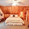 Master bedroom with king bed, upstairs