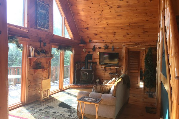 Enjoy a cozy fire